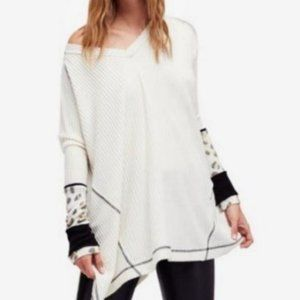 Free people Ivory Lovin Leopard Thermal Top Small